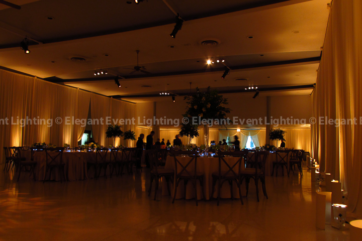 Ivory Draping & Amber Uplighting | St. Demetrios Greek Orthodox Church