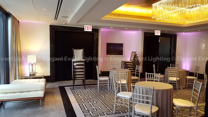 Vibrant Purple Uplighting | Cambridge Room - Langham Hotel