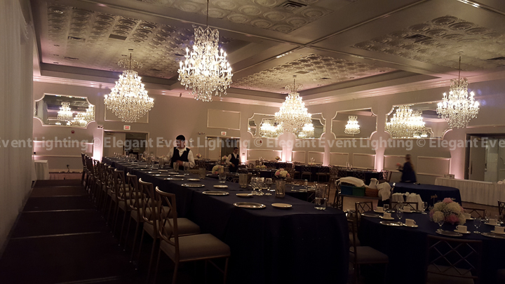 Soft Pink Uplighting | Crystal Ballroom - Drury Lane