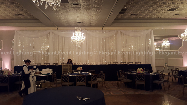 Signature Fairy Light Head Table Backdrop | Crystal Ballroom - Drury Lane