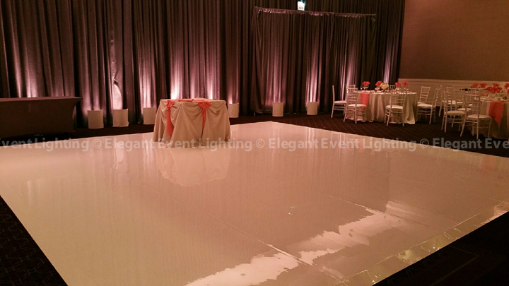 White Dance Floor & Room Uplighting | Ballroom - Hotel Arista