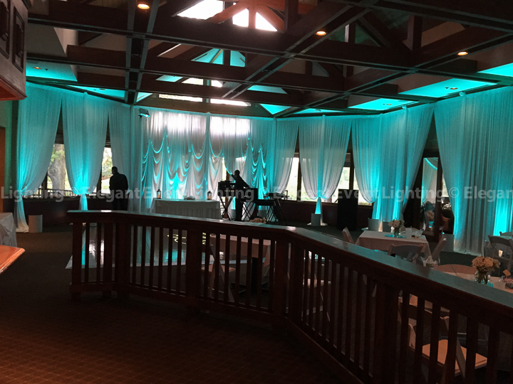 Wedding Draping & Uplighting | Grill & Gallery Rooms - Seven Bridges Golf Club