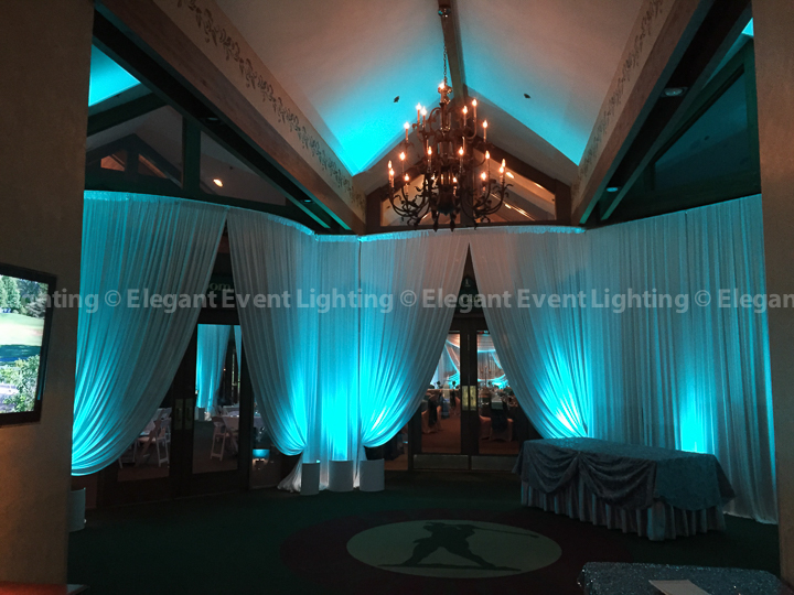 Wedding Drape Entrances & Uplighting | Grill & Gallery Rooms - Seven Bridges Golf Club