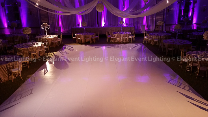 White Wedding Dance Floor & Color Wash | Meridian Banquets