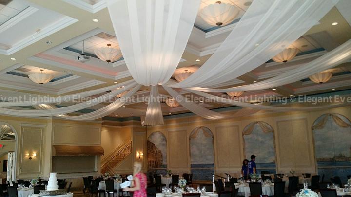 Ivory Starburst Ceiling Canopy | Venezia Ballroom - Venuti's