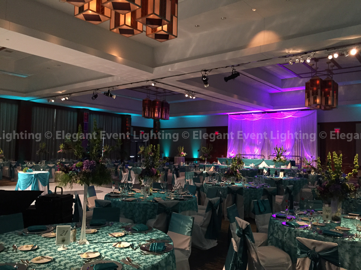 Jade Blue Room Uplighting | Eaglewood Resort & Spa