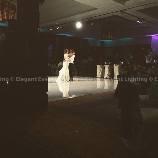 First Dance on White Vinyl Dance Floor | Eaglewood Resort & Spa