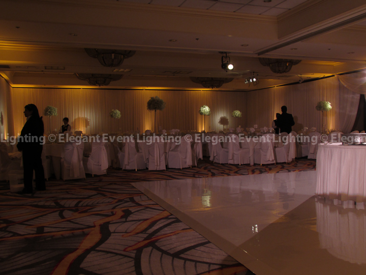 Centerpiece Pin Spot Lighting | Majestic Ballroom - Hilton Lisle