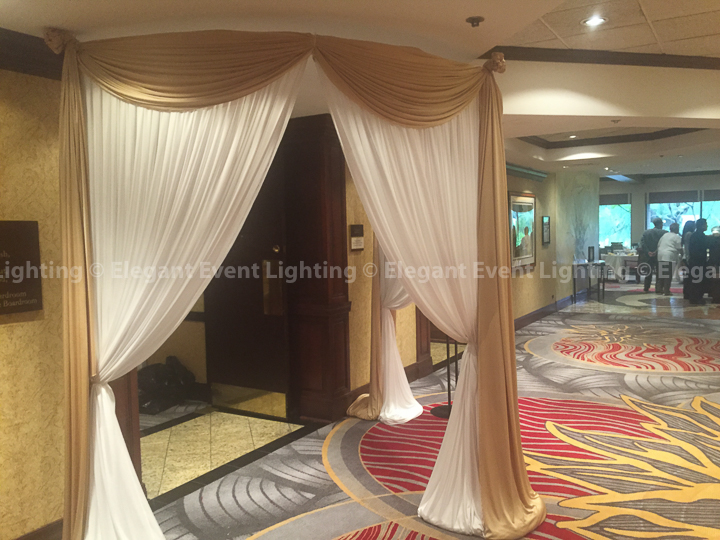 Fabric Curved Drape Entrance | Majestic Ballroom - Hilton Lisle