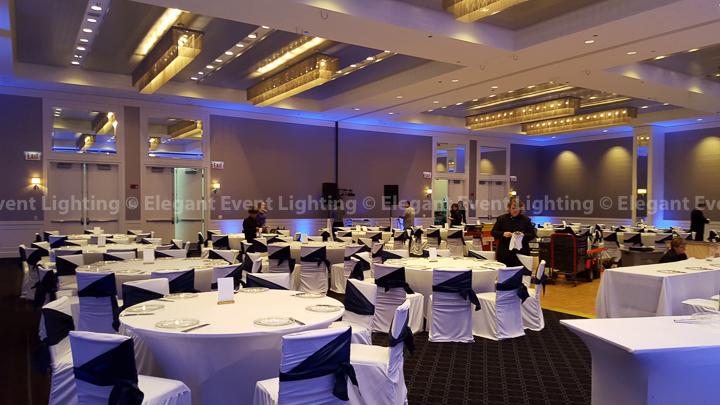 Vibrant Blue Uplighting | Hotel Arista