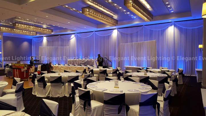 Wall Draping & Vibrant Blue Uplighting | Hotel Arista