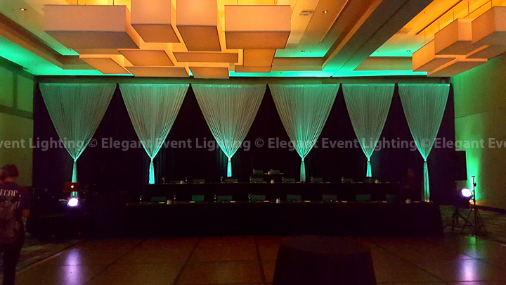 Black & Silver Wedding Draping with Uplighting | Hyatt Regency McCormick Place