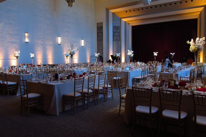 Room Uplighting & Table Wash Lighting | Mundelein Auditorium - Loyola University