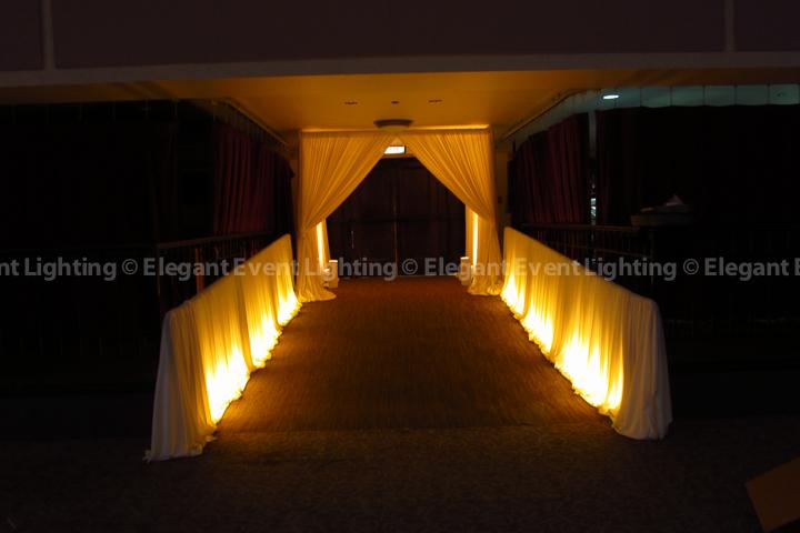 Entrance Lighting & Draping | Mundelein Auditorium - Loyola University