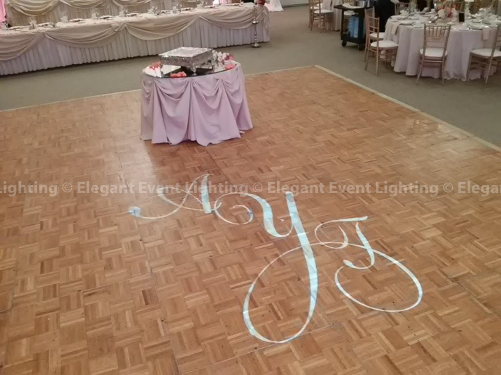 Illuminated Dance Floor Monogram | Belvedere