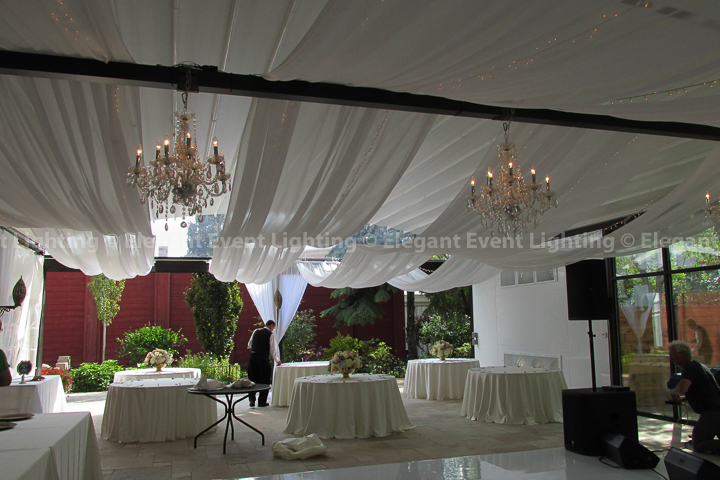 Ceiling Draping & Crystal Chandeliers | Pergola - Galleria Marchetti