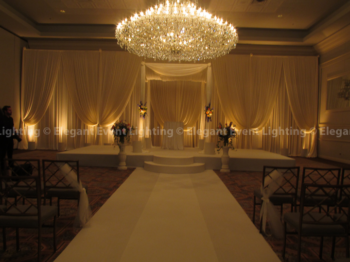 Drury Lane Wedding Backdrop, Chuppah, Aisle Runner & Uplighting | Drury Lane