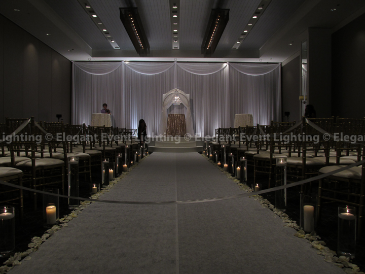 Ceremony Backdrop & White Stage Cover | Hotel Arista