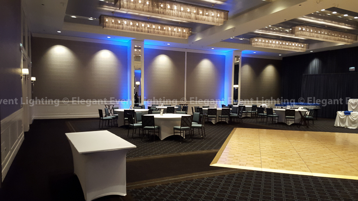Ballroom Uplighting | Hotel Arista