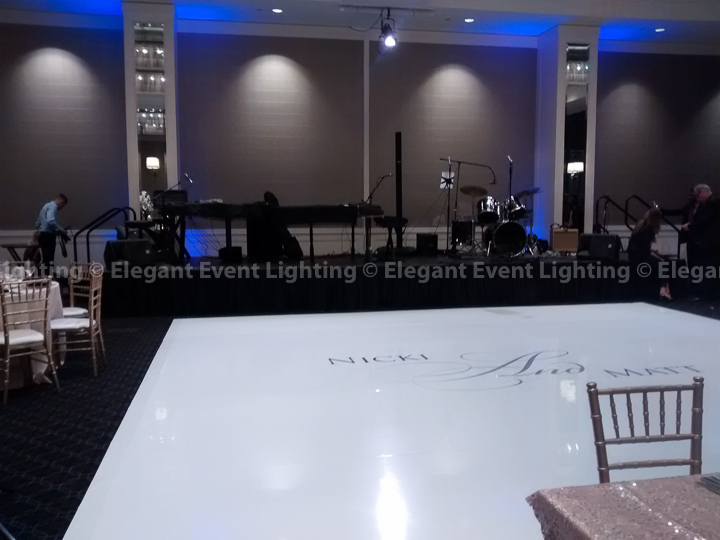 White Dance Floor & Custom Monogram | Hotel Arista