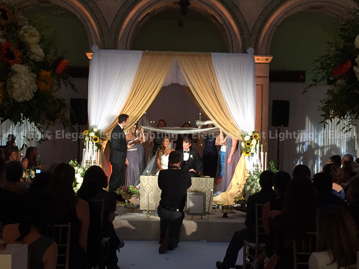Bridal Canopy, Aisle Runner & Stage Cover | Chicago Cultural Center