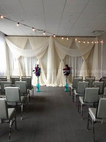 Ivory Fabric Ceremony Backdrop | Thompson Hotel