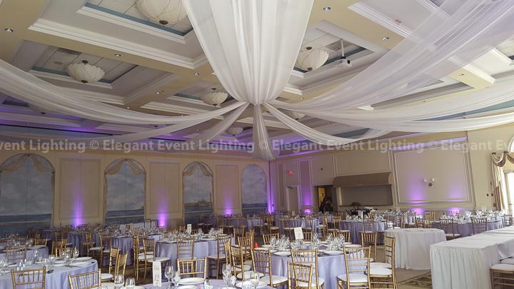 Purple Uplighting & Ceiling Canopy | Venezia Ballroom - Venuti's