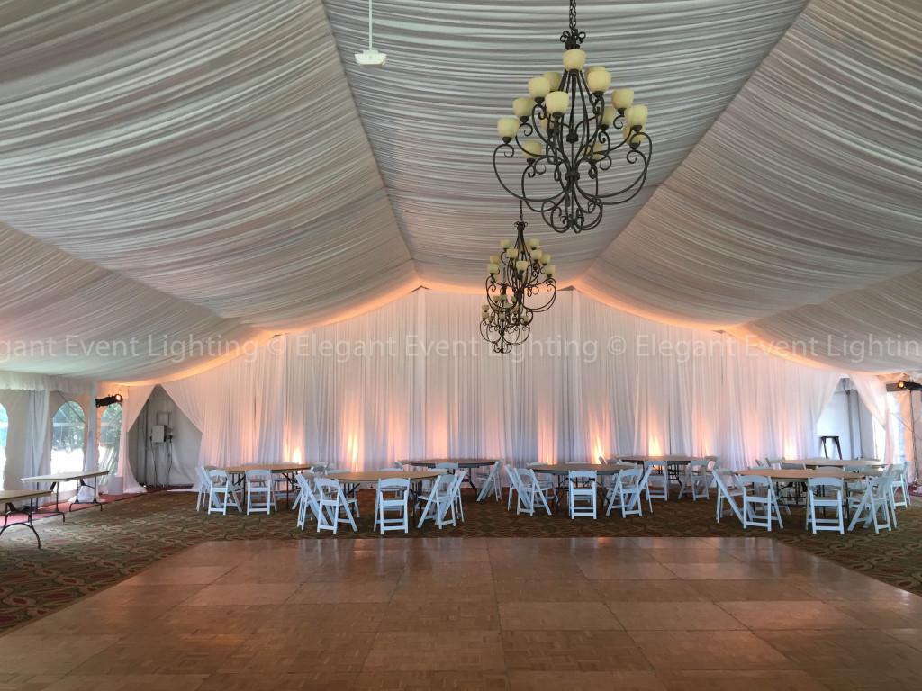 Drape Wall & Amber Uplighting | Eaglewood Resort
