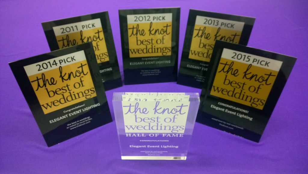 The Knot Best of Weddings Hall of Fame | Elegant Event Lighting