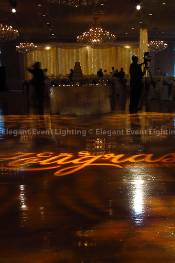 Dance Floor Custom Illuminated Monogram | Abbington Distinctive Banquets
