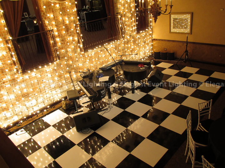 Black & White Vinyl Dance Floor | Herrington Inn