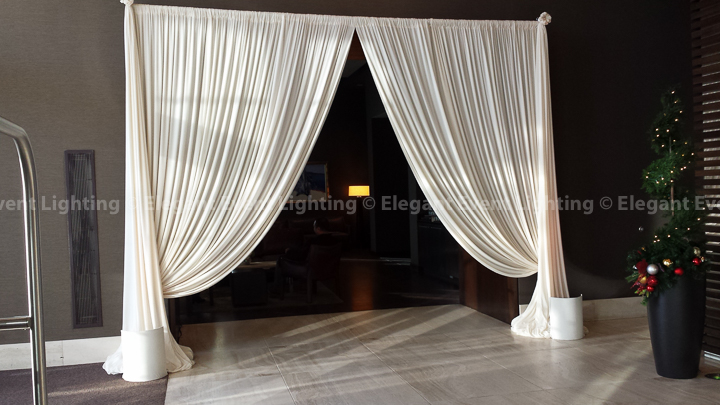 Entrance Draping | Hotel Arista