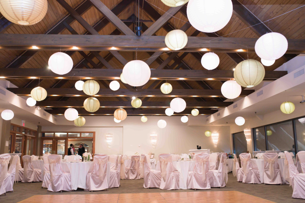 Blush Gold & Pink Illuminated Paper Lanterns | Villa Olivia