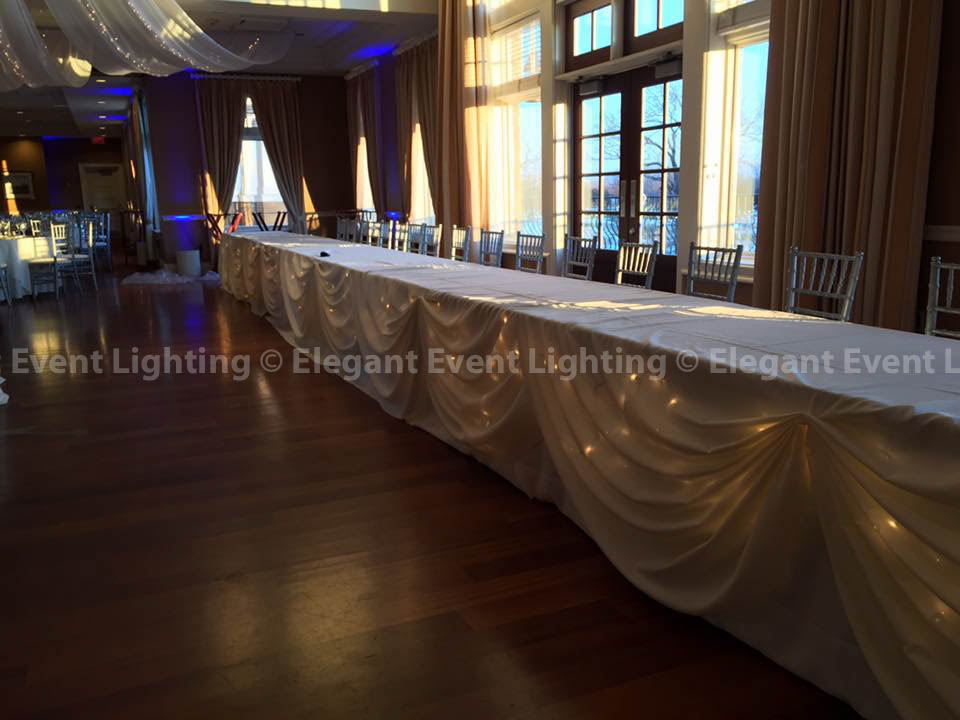 Head Table Draping with Fairy Lights | Arrowhead Golf Club