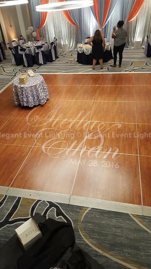 Dance Floor Illuminated Monogram | Doubletree Skokie