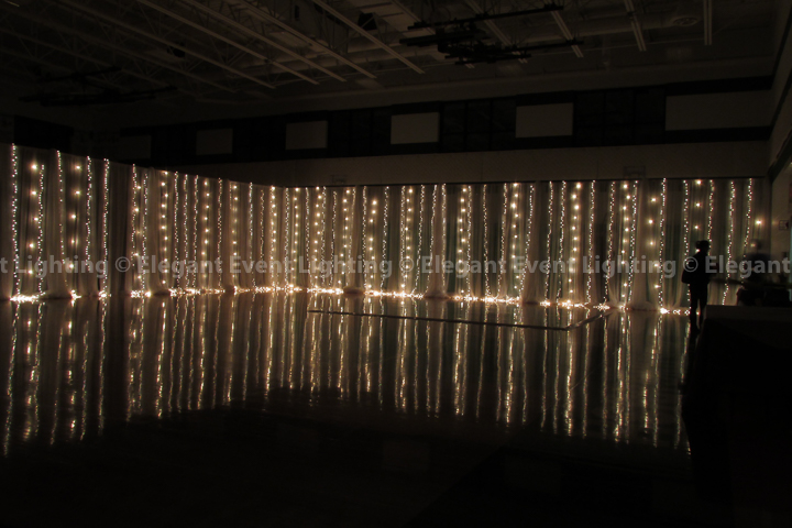 Gym Fairy Light Wall