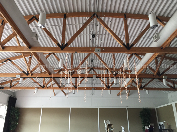 Vertical Hanging Fairy Lights | Metropolis Ballroom
