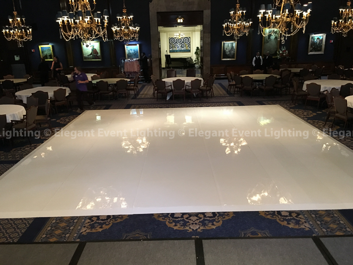 Union League White Dance Floor