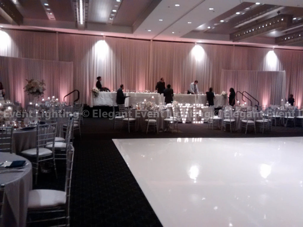 Backdrop & Ivory Dance Floor | Hotel Arista