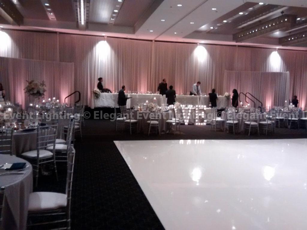 Backdrop & Ivory Dance Floor   Hotel Arista