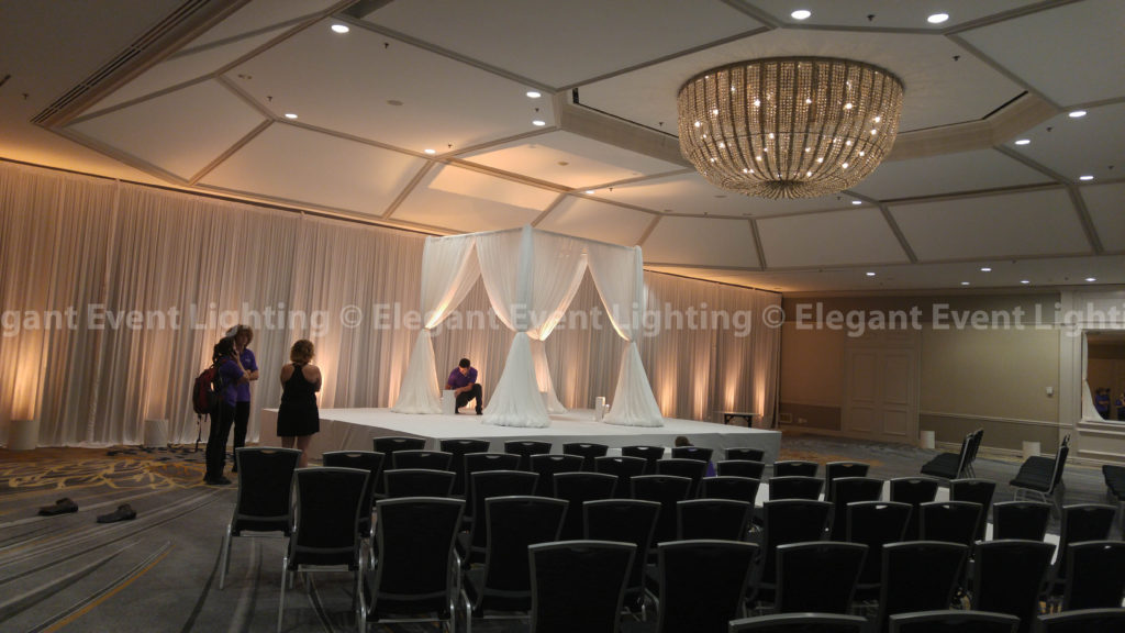 Ceremony Backdrop & Chuppah | Fairmont Hotel