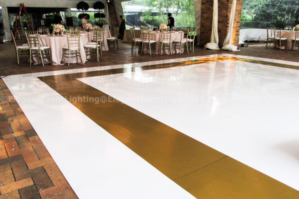 Wedding-Botanic Gardens-White Floor Gold Border