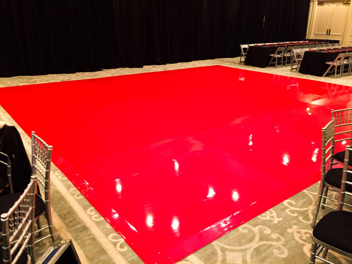 Elegant_Event_Lighting_Bar_Mitzvah_Bryn_Mawr_Country_Club_Vinyl_Monogram_Dance_Floor_Red_Dance_Floor