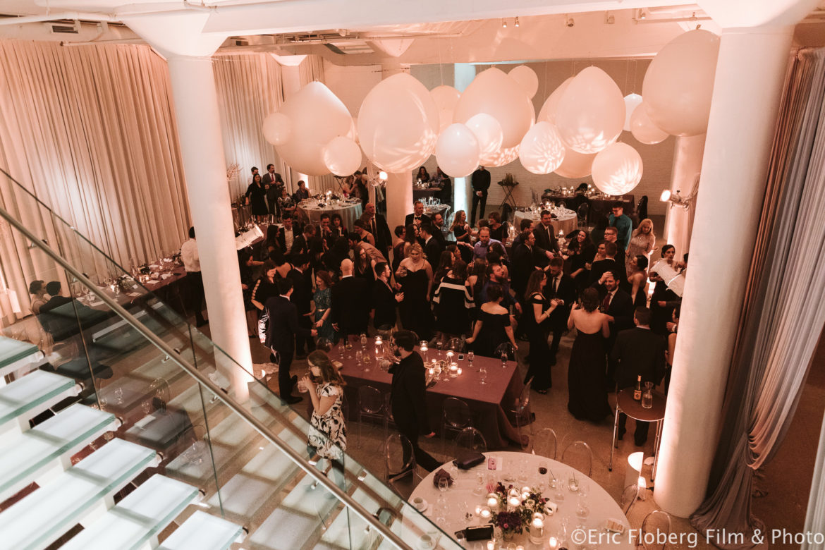 Elegant_Event_Lighting_Chez_Chicago_Wedding_Reception_Balloon_Spheres_Silver_Draping
