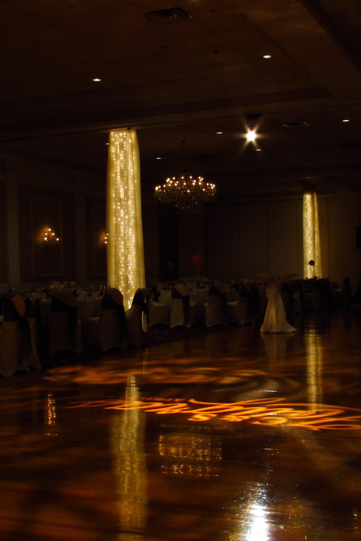 Abbington Twinkle Lights Column Wraps