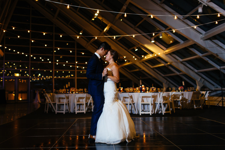 Elegant_Event_Lighting_Chicago_Adler_Planetarium_Wedding_Cafe_String_Globe_Lighting_First_Dance_Romantic