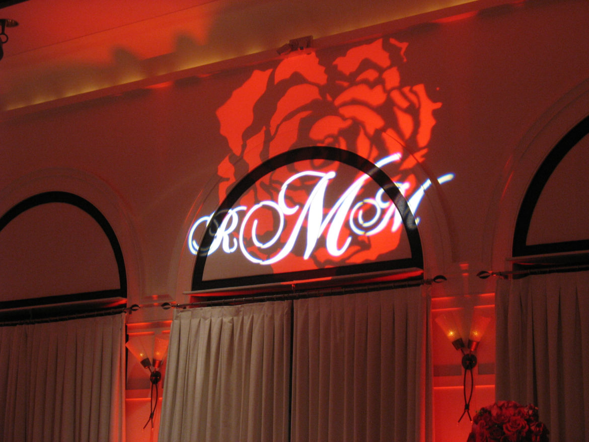 Elegant_Event_Lighting_Chicago_Allerton_Hotel_Wedding_Illuminated_Monogram_Red_Rose