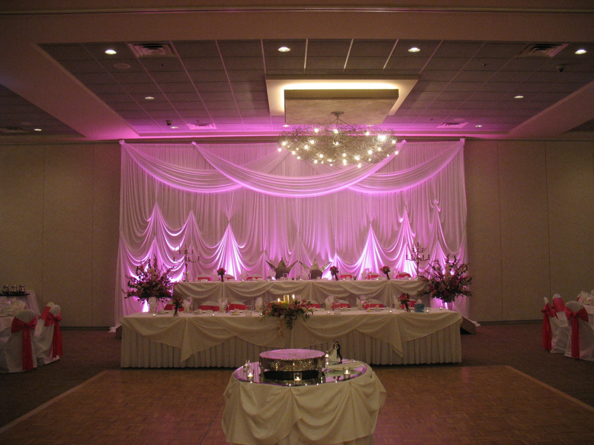 Elegant_Event_Lighting_Chicago_Belvedere_Banquets_Elk_Grove_Wedding_Backdrop_Hot_Pink_Uplighting_LED_Reception