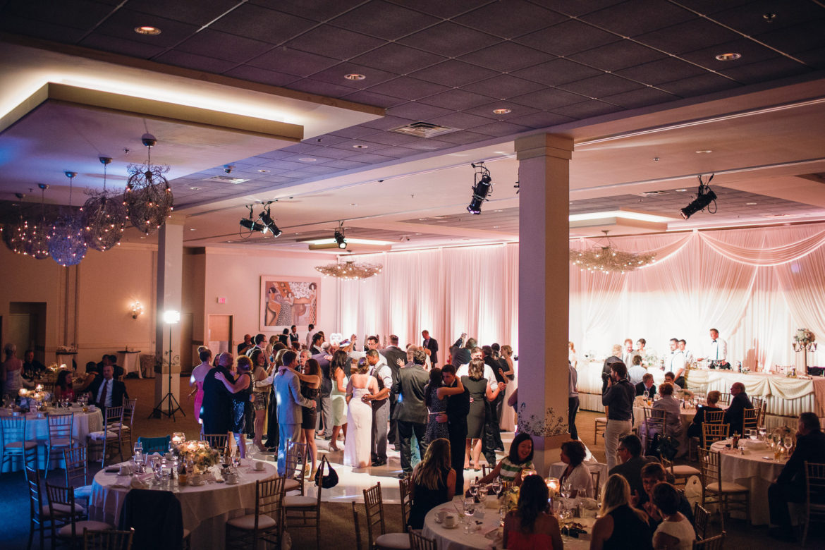 Elegant_Event_Lighting_Chicago_Belvedere_Banquets_Elk_Grove_Wedding_Reception_Backdrop_Blush_Pink_Uplighting_Draping