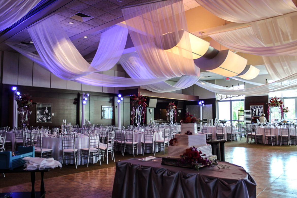 Elegant_Event_Lighting_Chicago_Bobaks_Signature_Events_Woodridge_Wedding_Ceiling_Draping_Blue_Lighting